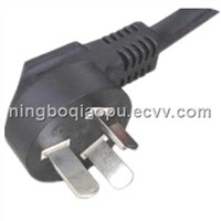 CCC power cord with 3 pins plug|3 pin non-rewirable plug|China Style Power Cord|3 pins chinese plug