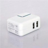 Dual USB AC Adapter for iPhone/iPod/iPad