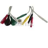ECG Lead Wire set for Patient Monitor, IEC, Snap