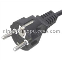 Euro/Germany VDE Power Cord|European standard VDE three pin power cord|Schuko power cord