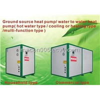 Ground source heat pump/water to water heat pump