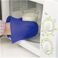 Heatproof Silicone Insulation Cooking Glove Blue New