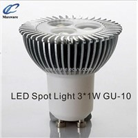 Hot sales 2011 new product LED spot light/GU10 spot light/3*1w spot light