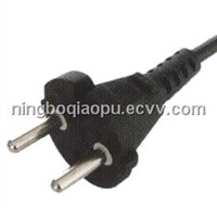 Korea power plug|2 pin south korea Power plug|Korean KTL Power cords|Korea 2 pin power plug