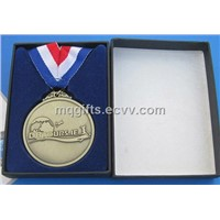 Metal Medallion Medal with Ribbon