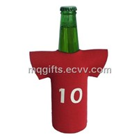 Neoprene bottle cooler in  T-shirt