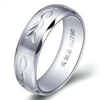 New White Tungsten Ring for Holiday Gifts