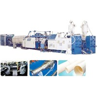 PE pressure pipe and gas pipe extrusion line