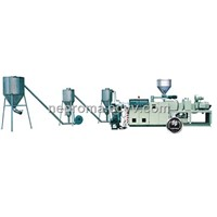 PVC Conical Twin-Screw Ectrude Wind-Cooled Mold Pelletizer