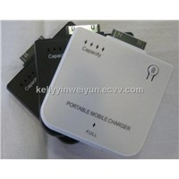 Portable mobile charger compatible with Iphone 2g, iphone 3gs, iphone 4g, ipod