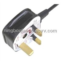 Power cable UK style BS approval|Plug with fuse|uk fused power cord|Britain BSI Power cords