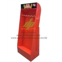 Power wing floor display stand unit for towel