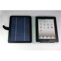 Powerful Leather USB Ipad Solar Charger Case for iPad