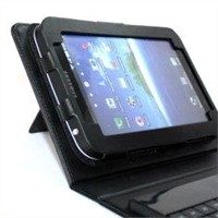 Samsung galaxy accessories of PU leather Bluetooth keyboard case with kickstand