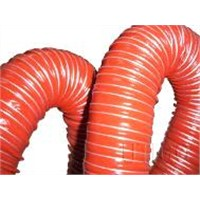 Double layer silicone coated glass fiber fabric hose
