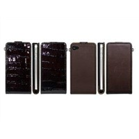 Slim Leather Flip Case for iPhone 4 I4-058 leather case