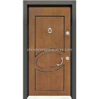Steel Wood Armored Security Door With MDF (TA342)