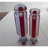 Transparent Red Acetate Double Color Hexagonal Plastic Screwdriver Handles