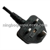 UK plug 13A With Fuse|UK power cord|BS approval power cord|BS1363 power cord|uk fused power cord