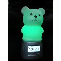 baby night light with thermometer- hygrometer