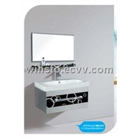 bathroom cabinet white Hot sale 2011 new models and the color can be changed