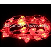 battery operated led fairy string light  heart shape
