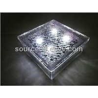 garden solar brick light
