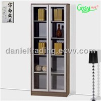 most fashion design bookcase with glass door FTF0805