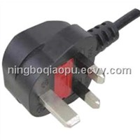uk fused power cord|BS Certificate power cord|UK plug 13A With Fuse|UK power plug|UK ASTA plug Y006
