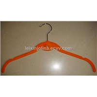 velvet lady hanger with indent position and hook