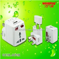 world travel adapter with USB port for charging iPhone