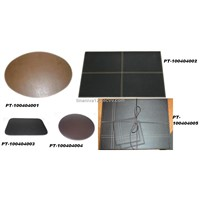 Faux leather placmats & coasters.