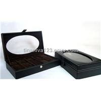 Faux leather watch boxes