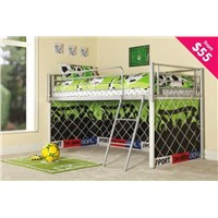 *PROMOTIONAL BED* Childrens Novelty Soccer Curtain Mid Sleeper Bed