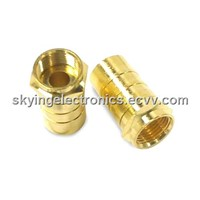 F connectors for satellite dish antenna  RG cable