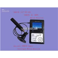 Free shipping  2CH SD Wire MINI CCTV  DVR motion detection,2.5'' TFT LCD,Max support 32GB SD Card