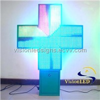Full Color LED Pharmacy Sign Double-Sided
