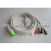 Siemens/GE /NEC Patient monitor ECG/EKG cables with leadwires