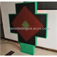 130cm LED Pharmacy Cross Outdoor