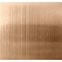 304 rose gold color titanium coated stainless steel sheet