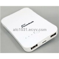 6000mAh external mobile power station for iphone,ipad,3G,4G,mobile phone,D.V..etc