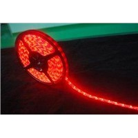 60led/m  non-waterproof SMD 3528 Flexible  red led Strip, 4.8w/m, 5m/reel, PCB width 8mm