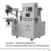 A B Two Compounds Filter Top Cover Gluing Machine