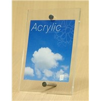 Acrylic Photo Frame with Metal Stents