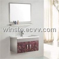 Bathroom Cabinet Vanity with Ceramic Basin