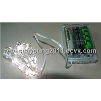 Battery pwered LED light string