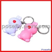 Bunny Rabbit keychain Flashlight /LED Key Chain
