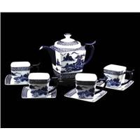 Chinese style ceramic coffee set