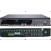 Economic cctv dvr recorder  with 16  channel full D1 support dual stream network transmission