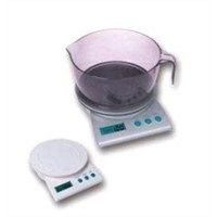 Electronic Bowl Kitchen Scale with Counting Down Timer